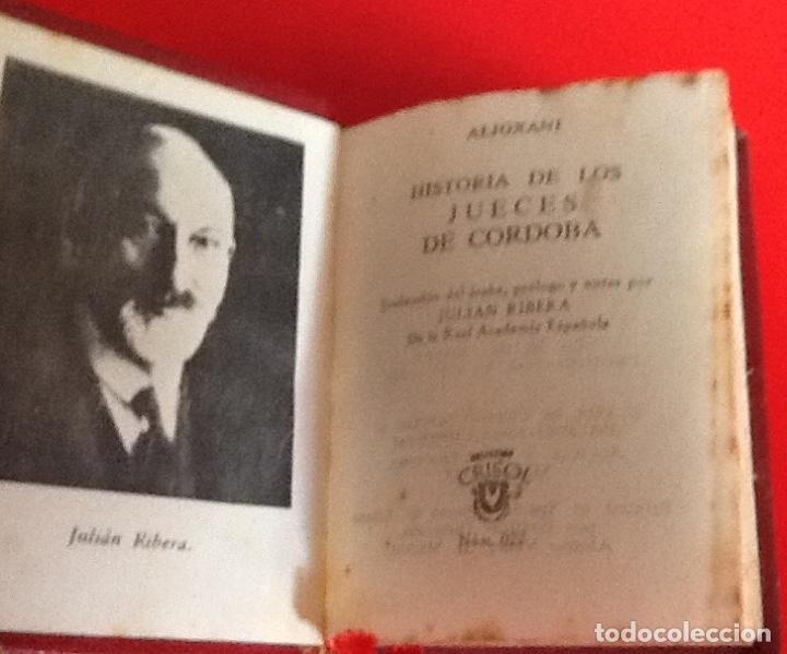 Libros de segunda mano: LIBRO EN MINIATURA. CRISOL. HISTORIA JUECES DE CORDOBA. 1965. ENVIO INCLUIDO. - Foto 2 - 171607924