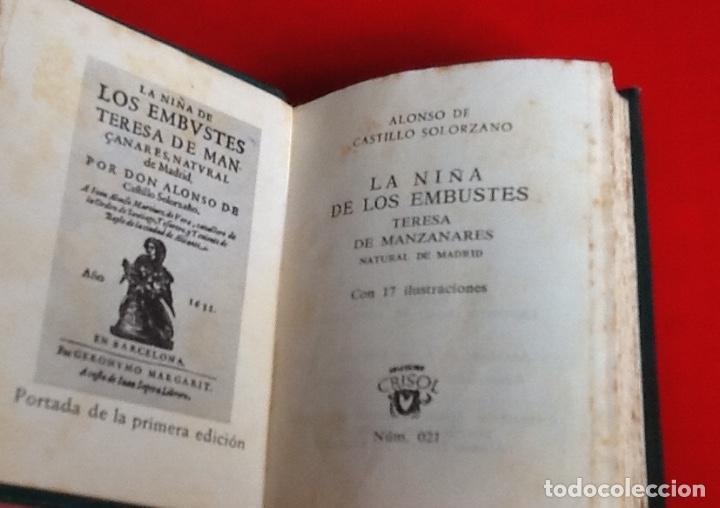 Libros de segunda mano: LIBRO EN MINIATURA. CRISOL. LA NIÑA DE LOS EMBUSTES.1964. ENVIO INCLUIDO. - Foto 2 - 171608110