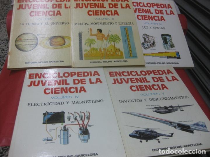 ENCICLOPEDIA JUVENIL DE LA CIENCIA. 5 VOLUMENES COMPLETA. EDITORIAL MOLINO 1975. (Libros de Segunda Mano - Literatura Infantil y Juvenil - Otros)