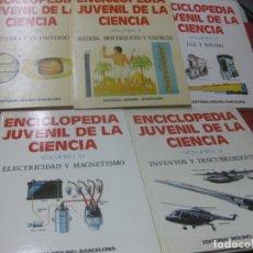 Libros de segunda mano: ENCICLOPEDIA JUVENIL DE LA CIENCIA. 5 VOLUMENES COMPLETA. EDITORIAL MOLINO 1975.. Lote 171725745