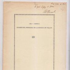 Libros de segunda mano: ALVA V. EBERSOLE: EXAMEN DEL PROBLEMA DE LA MONEDA DE VELLÓN. 1966. NUMISMÁTICA. Lote 171729405