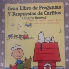 Libros de segunda mano: GRAN LIBRO DE PREGUNTAS Y RESPUESTAS DE CARLITOS, CHARLIE BROWN. Lote 171776360