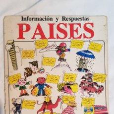 Libros de segunda mano: INFORMACIÓN Y RESPUESTAS PAISES, EDITORIAL PLESA, SM EDICIONES 1979. Lote 171818678