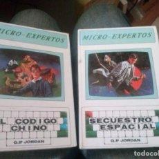 Libros de segunda mano: 2 MICRO-EXPERTOS: SECUESTRO ESPACIAL Y EL CODIGO CHINO. Lote 171831515