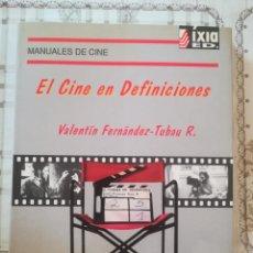 Libros de segunda mano: EL CINE EN DEFINICIONES - VALENTÍN FERNÁNDEZ-TUBAU R. - MANUALES DE CINE Nº 2. Lote 171940053
