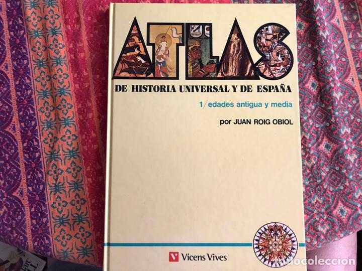 ATLAS DE HISTORIA UNIVERSAL Y DE ESPAÑA. 1. EDADES ANTIGUAS Y MEDIA. VICENS VIVES (Libros de Segunda Mano - Historia - Otros)