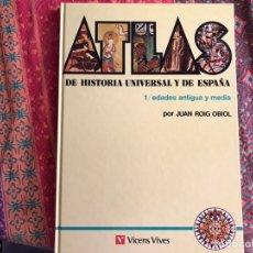 Libros de segunda mano: ATLAS DE HISTORIA UNIVERSAL Y DE ESPAÑA. 1. EDADES ANTIGUAS Y MEDIA. VICENS VIVES. Lote 171964647