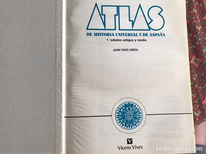Libros de segunda mano: Atlas de historia universal y de España. 1. Edades antiguas y media. Vicens Vives - Foto 2 - 171964647