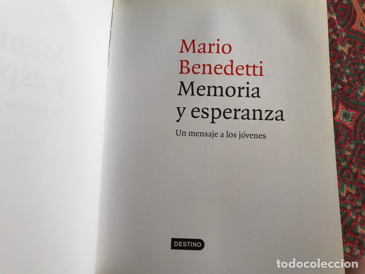 Libros de segunda mano: Memoria y esperanza. Mario Benedetti - Foto 4 - 171967233