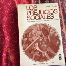 Libros de segunda mano: LOS PREJUICIOS SOCIALES. PETER HEINTZ. Lote 171967919