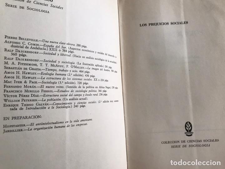 Libros de segunda mano: Los prejuicios sociales. Peter Heintz - Foto 3 - 171967919