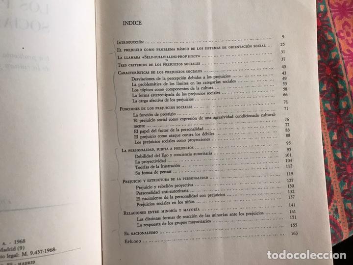 Libros de segunda mano: Los prejuicios sociales. Peter Heintz - Foto 5 - 171967919