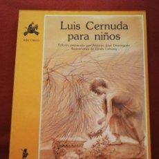 Libros de segunda mano: LUIS CERNUDA PARA NIÑOS (EDICIONES DE LA TORRE). Lote 172084253