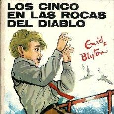 Libros de segunda mano: 43 LOS CINCO EN LAS ROCAS DEL DIABLO ENID BLYTON EDITORIAL JUVENTUD 8ª EDICION 1980. Lote 172114194