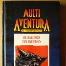 Libros de segunda mano: MULTI AVENTURA / SÉ TÚ EL PROTAGONISTA: EL SABUESO DEL INFIERNO (INGELEK JUVENIL, 1986).. Lote 172153938