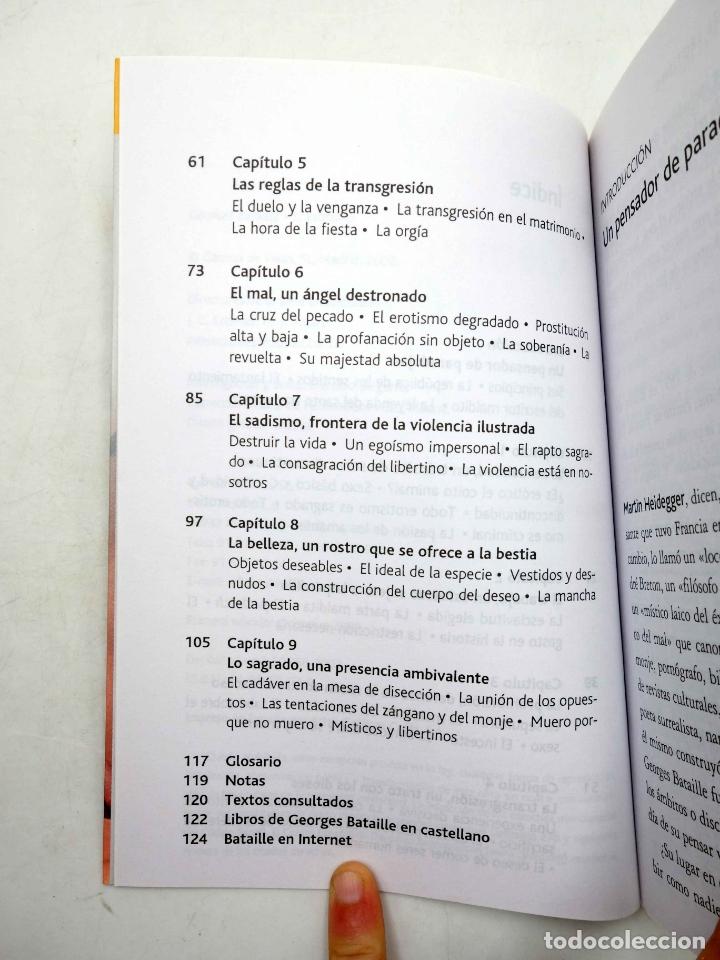 Libros de segunda mano: INTELECTUALES. GEORGES BATAILLE Y EL EROTISMO (Oswaldo Baigorria) Campo de Ideas, 2002. OFRT - Foto 5 - 187133432
