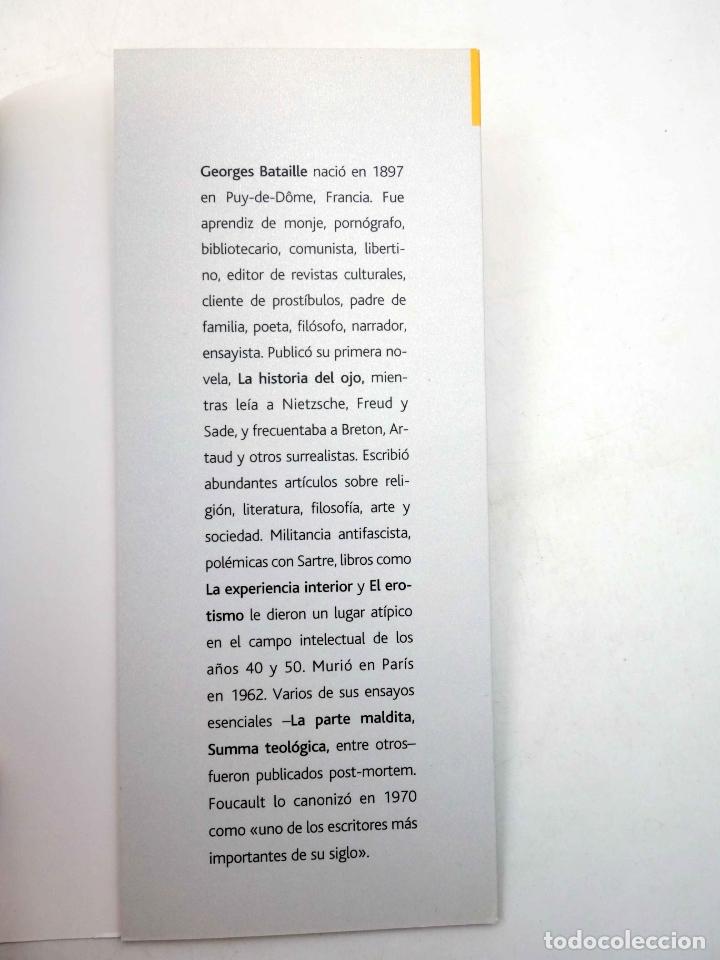 Libros de segunda mano: INTELECTUALES. GEORGES BATAILLE Y EL EROTISMO (Oswaldo Baigorria) Campo de Ideas, 2002. OFRT - Foto 6 - 187133432