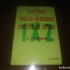 Libros de segunda mano: LIBRO SISTEMA DE TABLAS CRUZADAS CON PUNTOS DE APOLLO. Lote 172225538