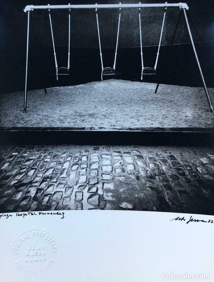 ALDO SESSA - PLAZA HOSPITAL FERNÁNDEZ - FOTOGRAFÍA - ORIGINAL PHOTO SIGNED 1982 (Libros de Segunda Mano (posteriores a 1936) - Literatura - Otros)