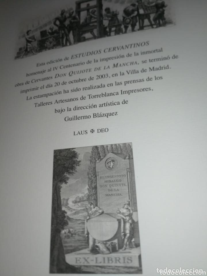 Libros de segunda mano: ESTUDIOS CERVANTINOS( QUIJOTE) - Foto 10 - 172258119