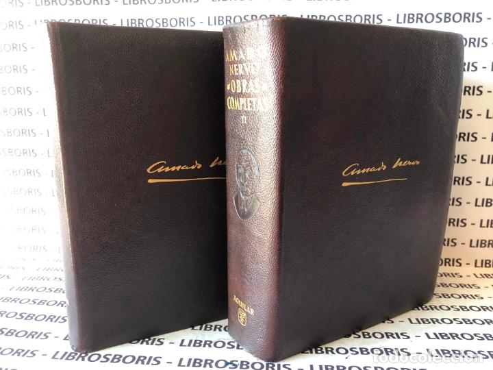Libros de segunda mano: AMADO NERVO - OBRAS COMPLETAS - AGUILAR - OBRAS ETERNAS - Foto 2 - 172364674