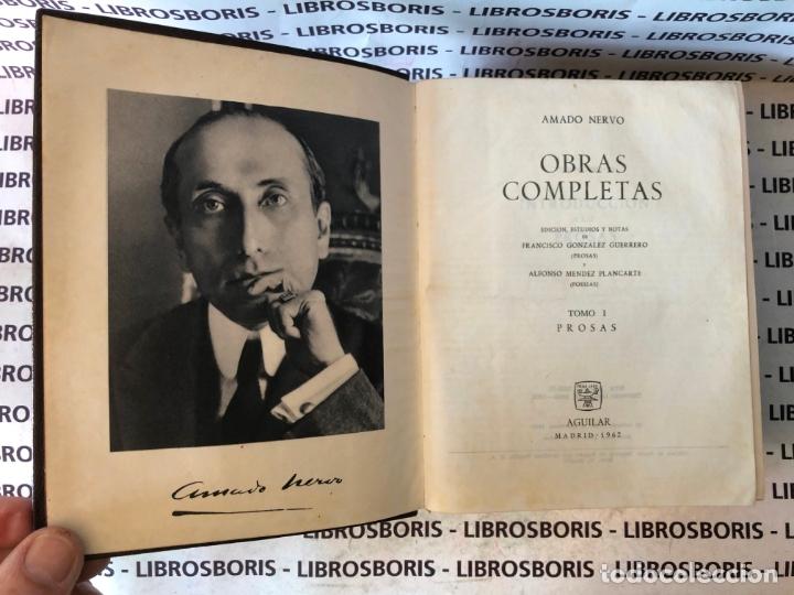 Libros de segunda mano: AMADO NERVO - OBRAS COMPLETAS - AGUILAR - OBRAS ETERNAS - Foto 6 - 172364674
