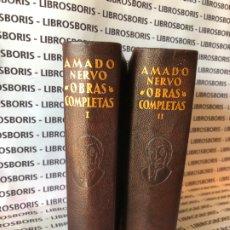 Libros de segunda mano: AMADO NERVO - OBRAS COMPLETAS - AGUILAR - OBRAS ETERNAS. Lote 172364674