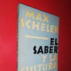Libros de segunda mano: MAX SELLER, EL SABER Y LA CULTURA. Lote 172431077