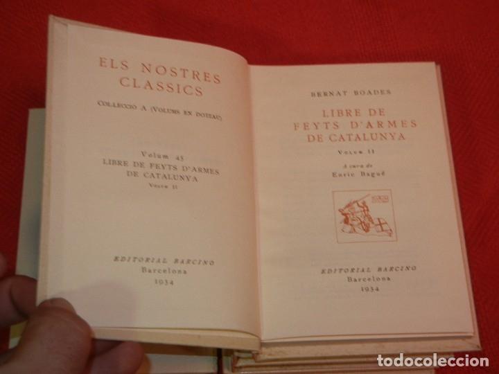 Libros de segunda mano: LLIBRE DE FEYTS D'ARMES DE CATALUNYA . ( 5 Vols ), de BERNAT BOADES - Foto 3 - 172503605