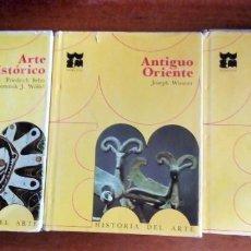 Libros de segunda mano: HISTORIA DEL ARTE. MORETON. TOMOS I,II Y III. ARTE PREHISTÓRICO, ANTIGUO ORIENTE Y EGIPCIO. Lote 172622345