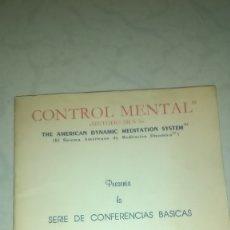 Libros de segunda mano: METODO SILVA. CONTROL MENTAL. SERIE DE CONFERENCIAS BASICAS. JOSE SILVA. MUY BUEN ESTADO. Lote 172661618