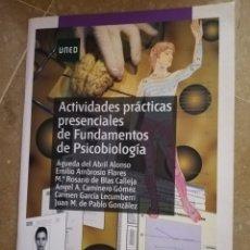 Libros de segunda mano: ACTIVIDADES PRÁCTICAS PRESENCIALES DE FUNDAMENTOS DE PSICOBIOLOGÍA (VV. AA.) INCLUYE CD. Lote 214379357