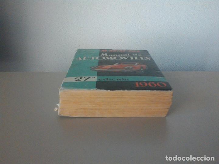 Libros de segunda mano: MANUEL ARIAS-PAZ. MANUAL DE AUTOMOVILES. 1960. ILUSTRACIONES BLANCO Y NEGRO. FOTOGRAFIAS ADJUNTAS. - Foto 3 - 172719634