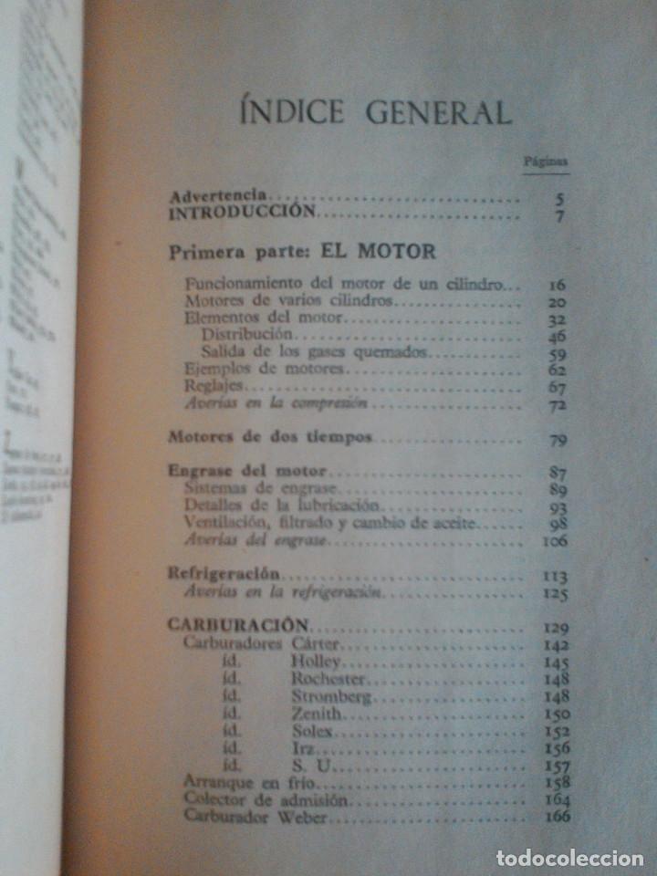 Libros de segunda mano: MANUEL ARIAS-PAZ. MANUAL DE AUTOMOVILES. 1960. ILUSTRACIONES BLANCO Y NEGRO. FOTOGRAFIAS ADJUNTAS. - Foto 10 - 172719634