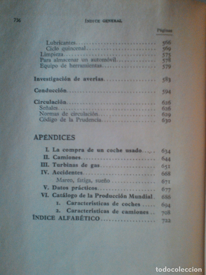 Libros de segunda mano: MANUEL ARIAS-PAZ. MANUAL DE AUTOMOVILES. 1960. ILUSTRACIONES BLANCO Y NEGRO. FOTOGRAFIAS ADJUNTAS. - Foto 13 - 172719634