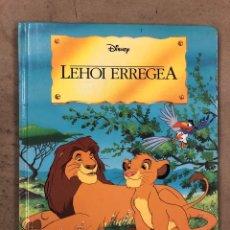 Libros de segunda mano: LEHOI ERREGEA (DISNEY). EDITORIAL EVEREST 1994. EL REY LEÓN EN EUSKERA. TAPA DURA. ILUSTRADO.. Lote 206249308