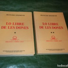 Libros de segunda mano: LO LLIBRE DE LES DONES, DE FRANCESC EIXIMENIS - 2 VOLS. CURIAL 1981. Lote 172834182