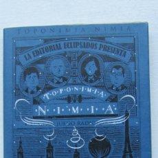 Libros de segunda mano: TOPONIMIA NIMIA EDITORIAL ECLIPSADOS. Lote 172840239