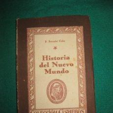 Libros de segunda mano: HISTORIA DEL NUEVO MUNDO. P. BERNABE COBO. .COLECCION CISNEROS.EDICIONES ATLAS 1943.. Lote 172841840