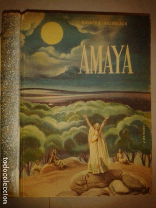 AMAYA Ó LOS VASCOS EN EL SIGLO VIII 1949 F. NAVARRO VILLOSLADA 6ª EDICIÓN APOSTOLADO DE LA PRENSA (Libros de Segunda Mano (posteriores a 1936) - Literatura - Otros)