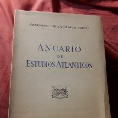 Libros de segunda mano: ANUARIO DE ESTUDIOS ATLANTICOS 1976 (N° 22). CANARIAS. SIN DESBARBAR.. Lote 172961177