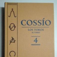 Libros de segunda mano: COSSÍO. LOS TOROS. EL TOREO. TOMO 4. Lote 173059192