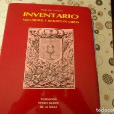 Libros de segunda mano: INVENTARIO MONUMENTAL Y ARTISTICO DE GALICIA. Lote 173059838