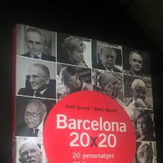 Libros de segunda mano: BARCELONA 20X20: 20 PERSONATGES, 20 LLOCS VISCUTS. JORDI QUEROL/DAVID QUEROL. VIENA 2010. CATALAN. . Lote 173142187