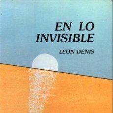 Libros de segunda mano: LEON DENIS : EN LO INVISIBLE (BOUDET, 1987). Lote 173147562