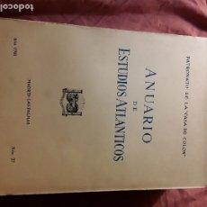 Libros de segunda mano: ANUARIO DE ESTUDIOS ATLANTICOS 1981 (N° 27). CANARIAS. SIN DESBARBAR.. Lote 172963615