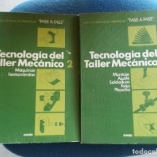 Libros de segunda mano: TECNOLOGIA DEL TALLER MECANICO TOMO 1 Y 2 . Lote 173187460