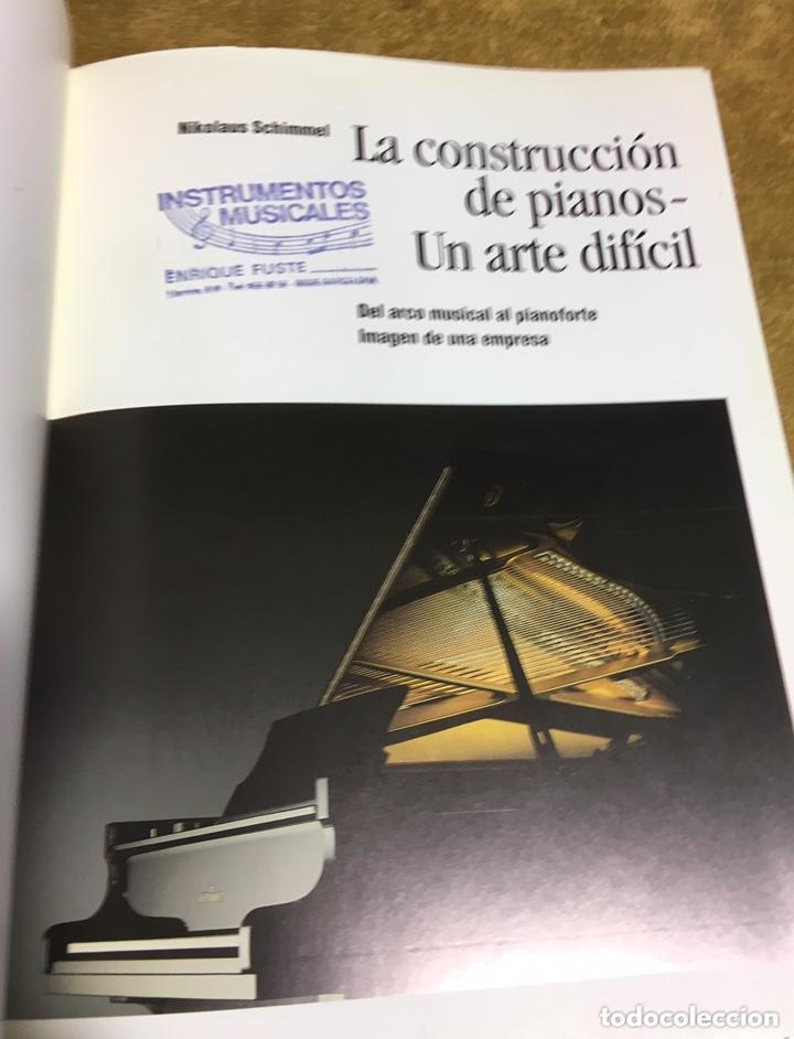 Libros de segunda mano: LA CONSTRUCCION DE PIANOS - UN ARTE DIFICIL SCHIMMEL - Foto 2 - 173279603