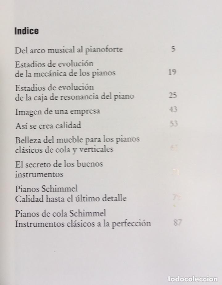 Libros de segunda mano: LA CONSTRUCCION DE PIANOS - UN ARTE DIFICIL SCHIMMEL - Foto 3 - 173279603