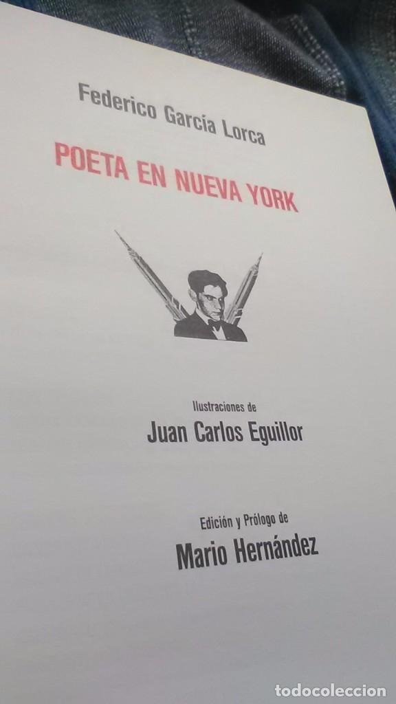 Libros de segunda mano: Poeta en nueva york, raro, federico Garcia lorca y juan Carlos eguillor - Foto 3 - 173489210